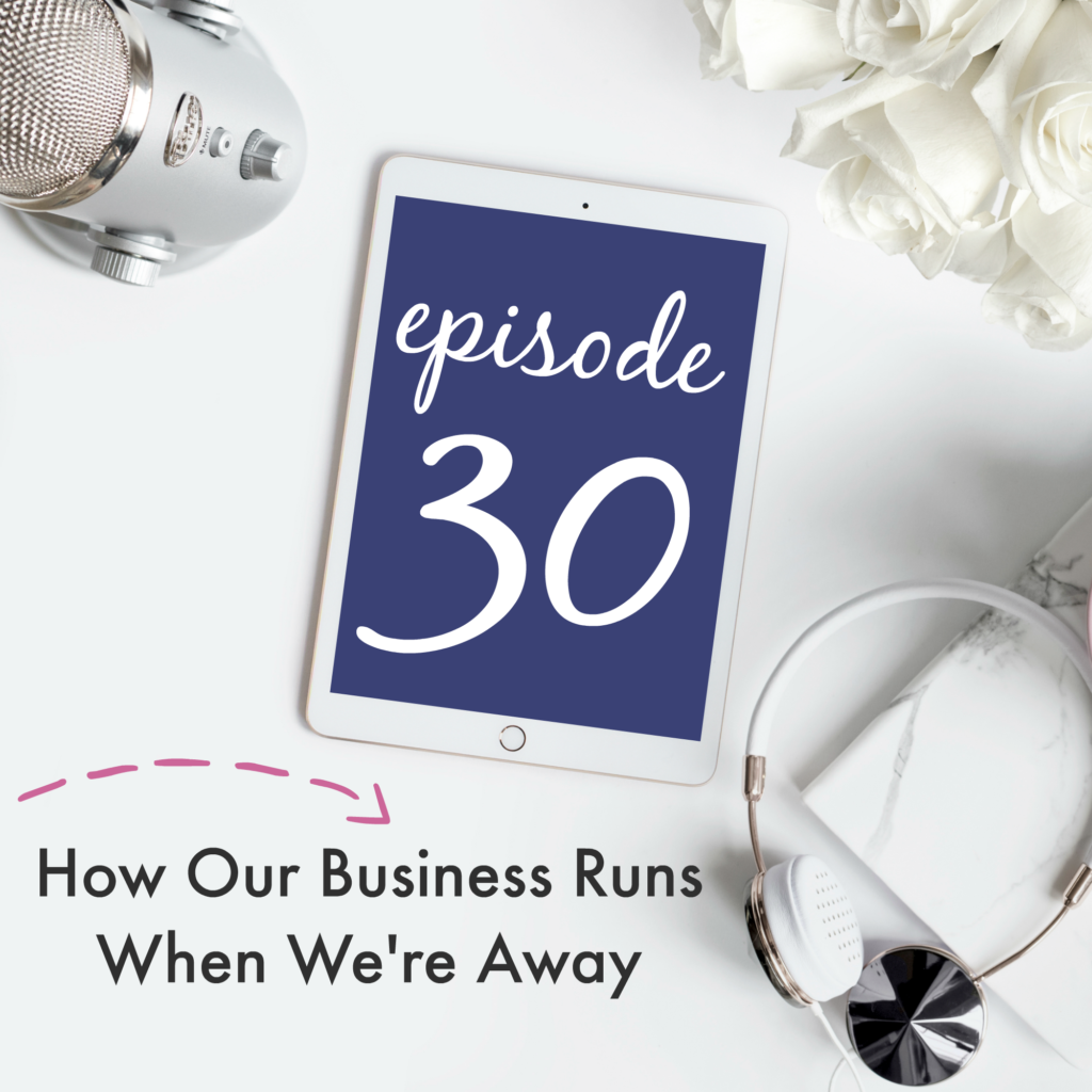 Episode 30: How Our Business Runs When We're Away | Creative Business Breakdown Podcast